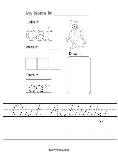 Cat Activity Worksheet