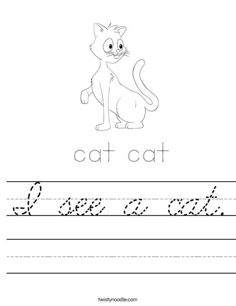 Cat starts with C Worksheet
