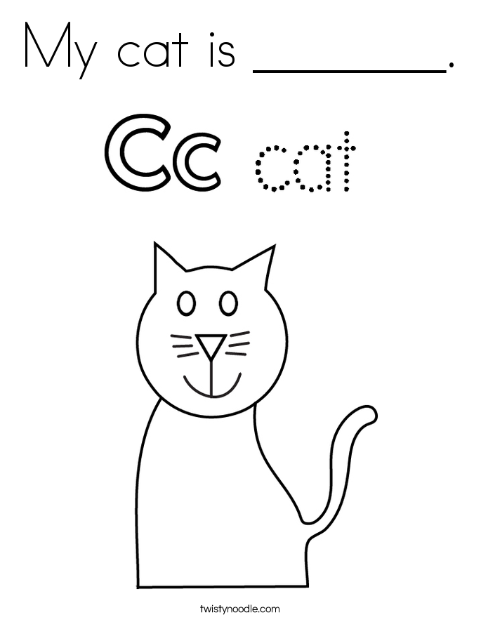 My cat is _______. Coloring Page