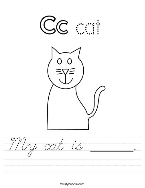 My cat is ______. Worksheet