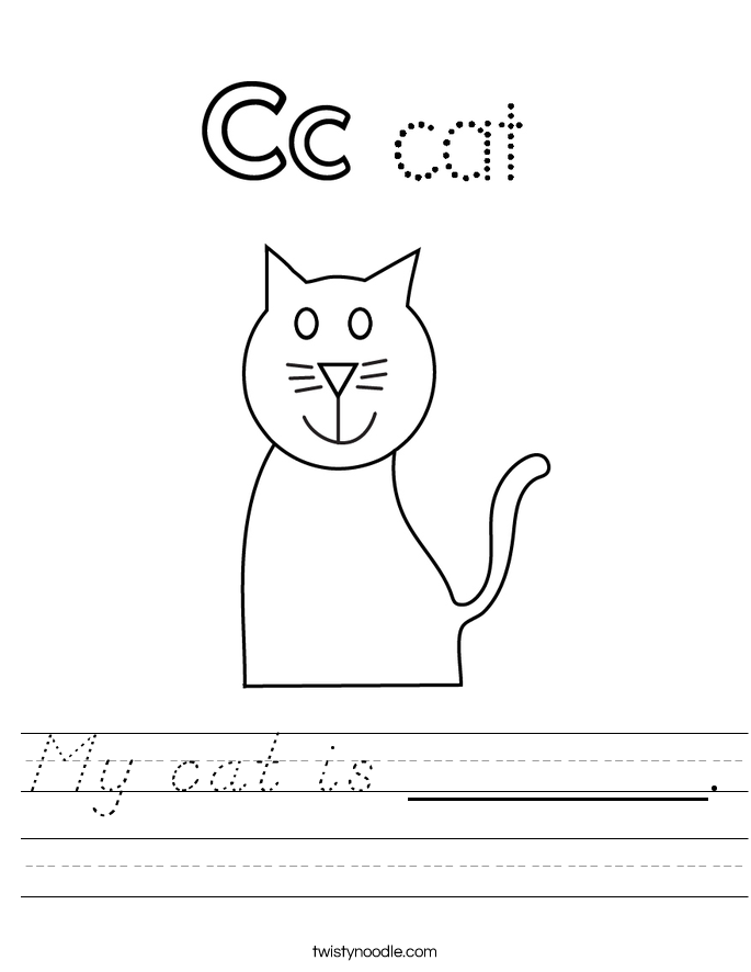 My cat is _______. Worksheet