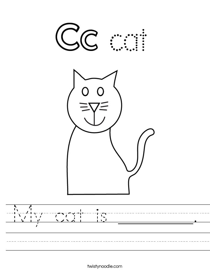 My cat is _______. Worksheet
