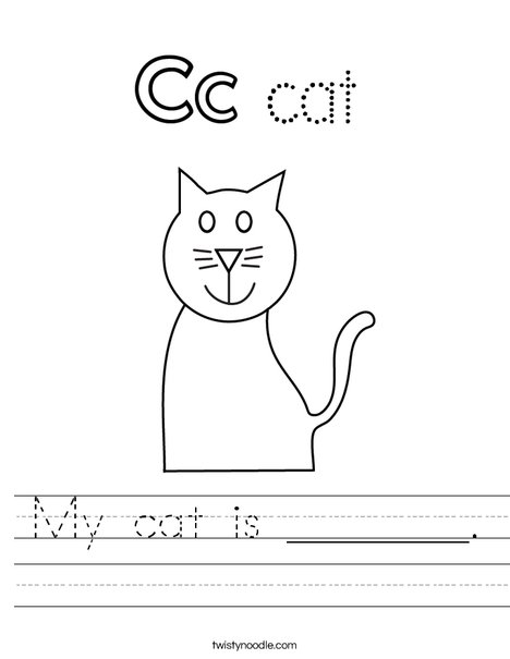 My cat is ______. Worksheet
