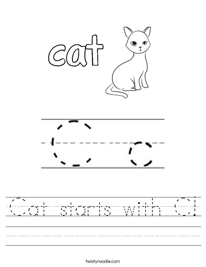 Printable Worksheets letter c printable worksheets : Letter C Worksheets - Twisty Noodle
