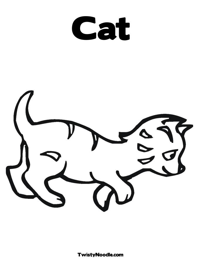 Cat Mother And Kitten coloring page / picture | Super Coloring