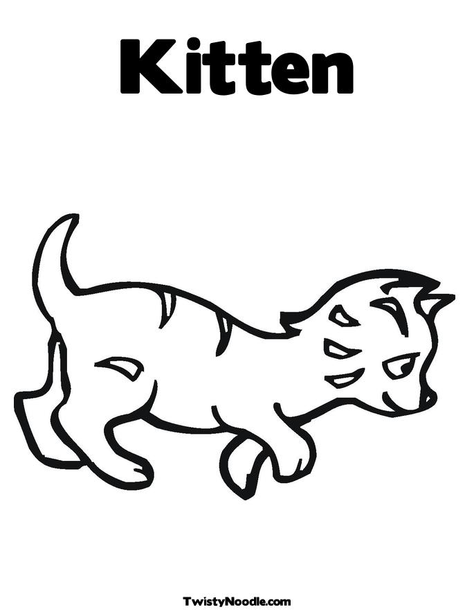 Free Coloring Pages Of Kittens