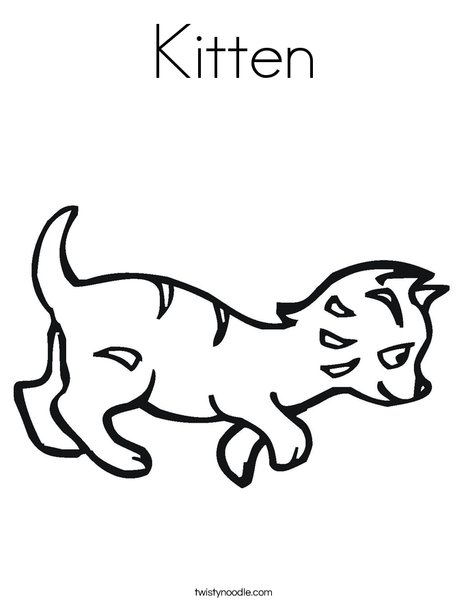 Kitten Coloring Page