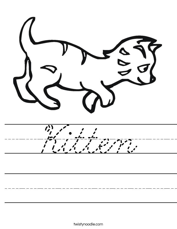 Kitten Worksheet