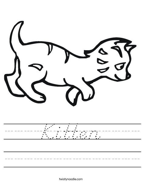 Kitten Worksheet