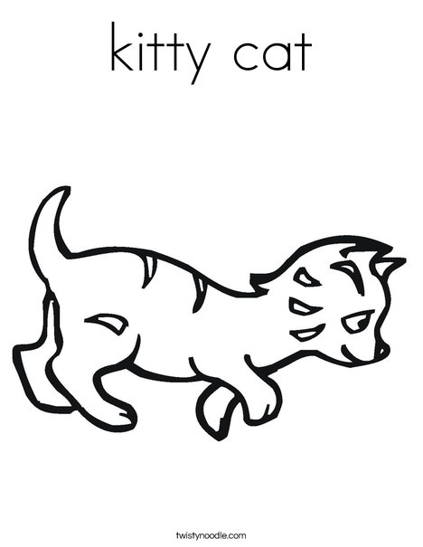 Kitty Cat Coloring Page Twisty Noodle