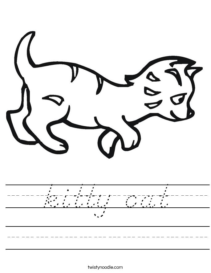 kitty cat Worksheet