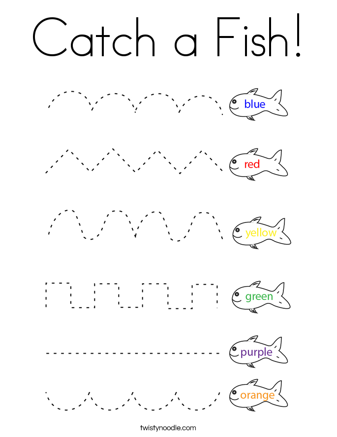 Catch a Fish! Coloring Page
