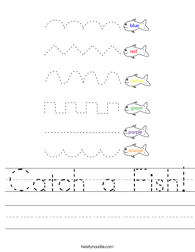 Catch a Fish! Worksheet