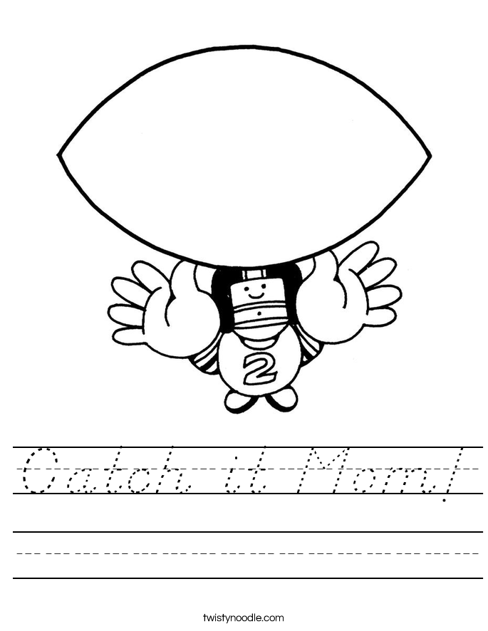 Catch it Mom! Worksheet