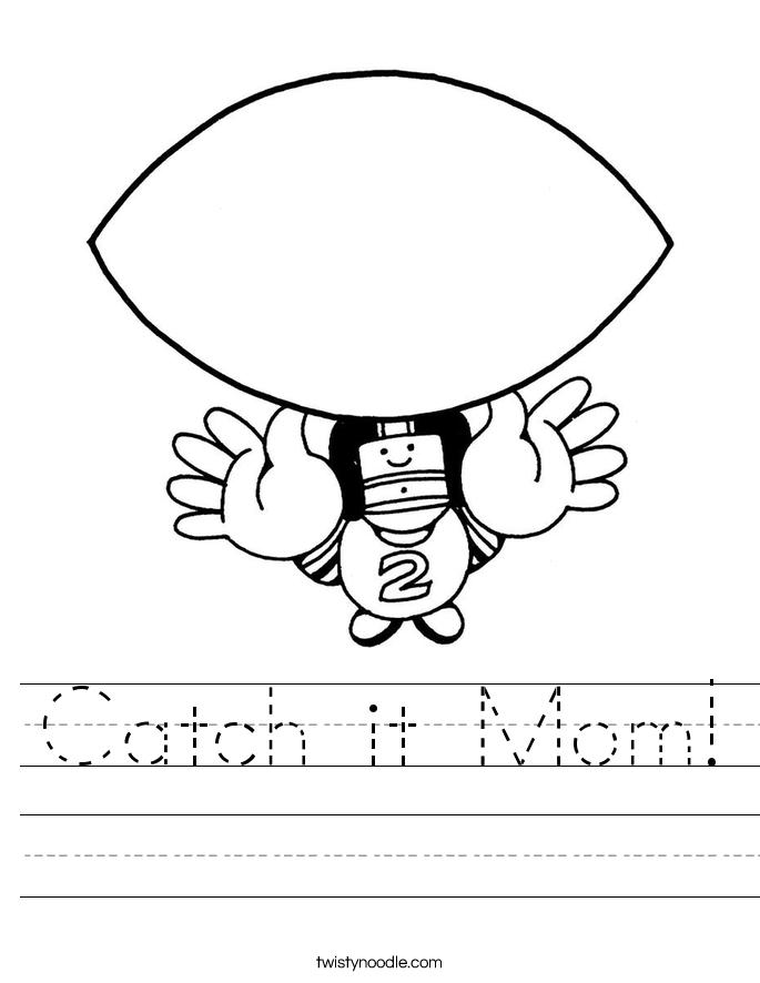 Catch it Mom! Worksheet