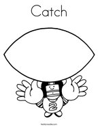 Catch Coloring Page