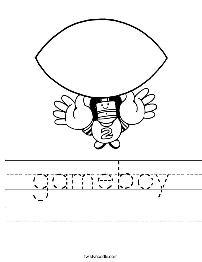 gameboy Worksheet