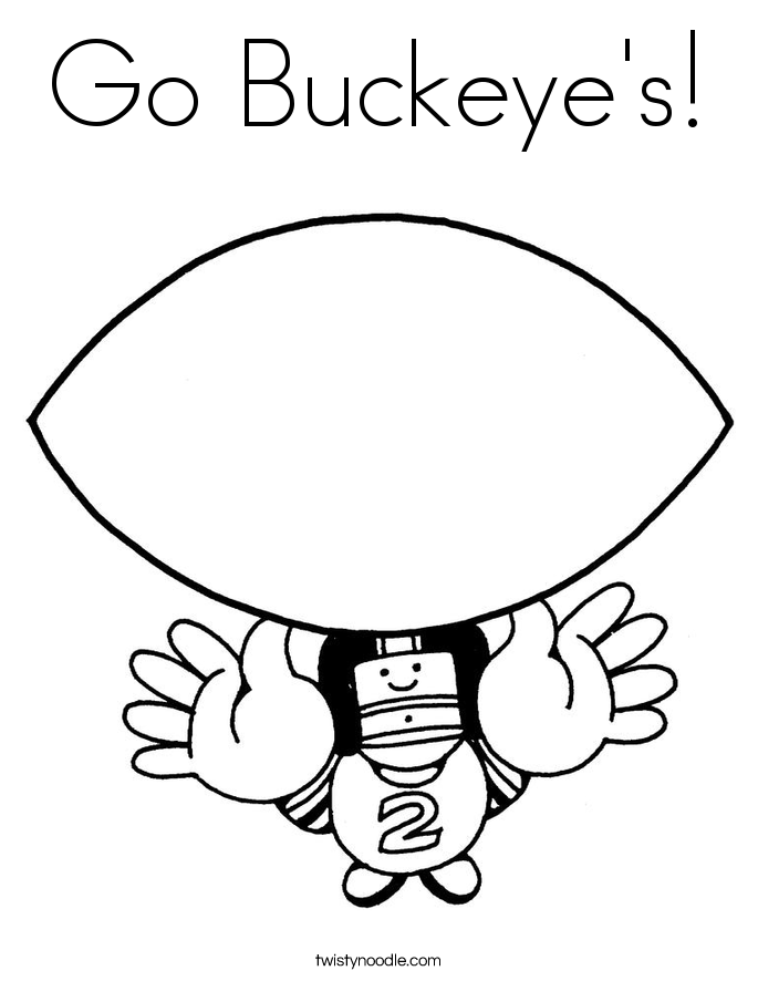 Go Buckeye's! Coloring Page