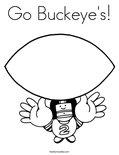 Go Buckeye's! Coloring Page