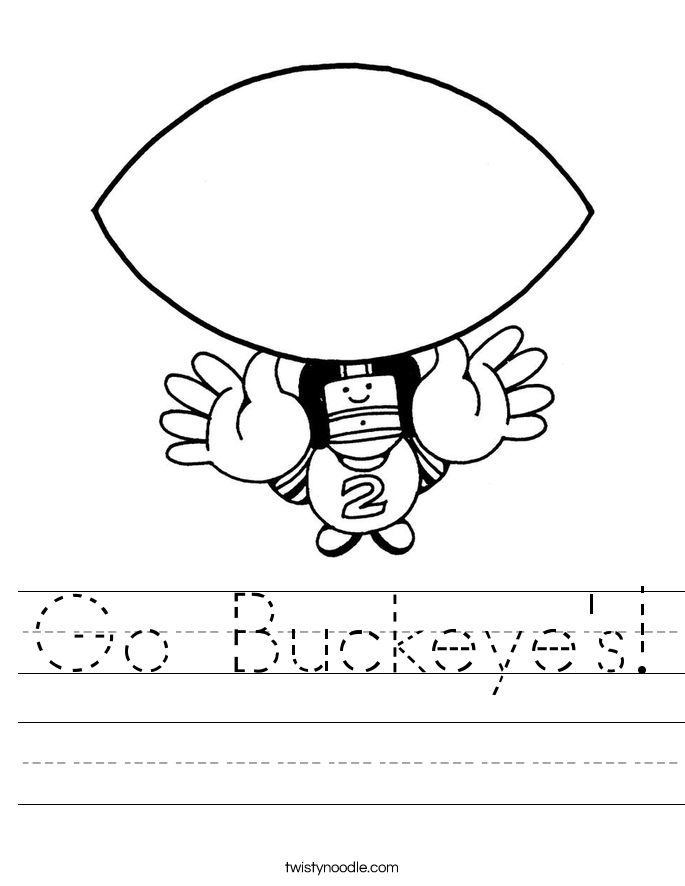 Go Buckeye's! Worksheet