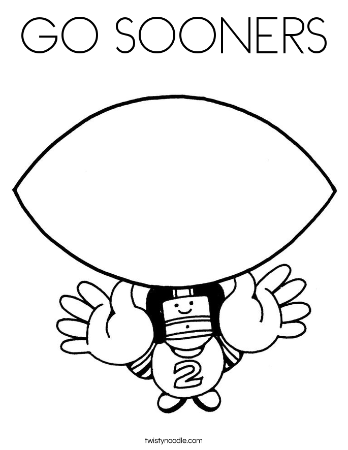 GO SOONERS Coloring Page