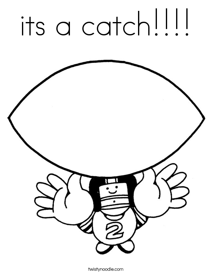 its a catch!!!! Coloring Page