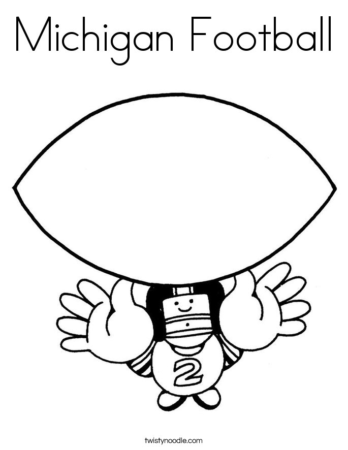 Michigan football free coloring pages for Michigan coloring pages