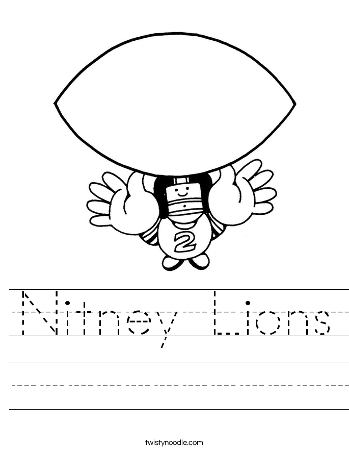 Nitney Lions Worksheet