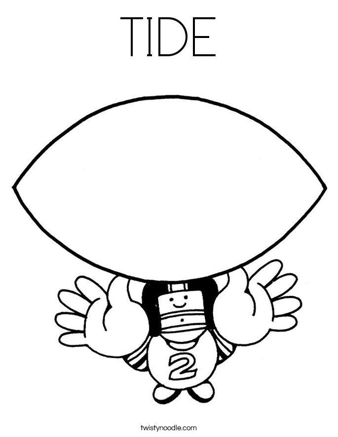 TIDE Coloring Page