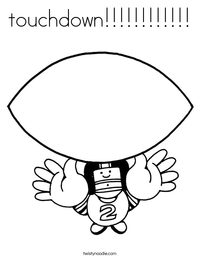 touchdown!!!!!!!!!!!! Coloring Page