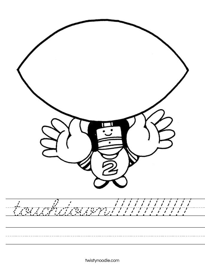 touchdown!!!!!!!!!!!! Worksheet