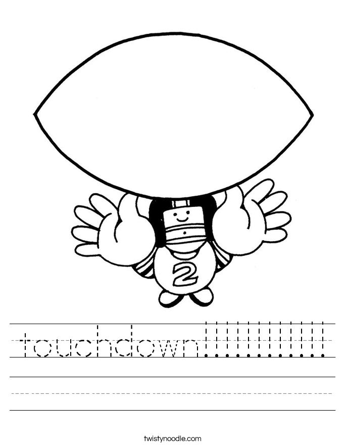 touchdown!!!!!!!!!!!! Worksheet