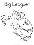 Big Leaguer Coloring Page