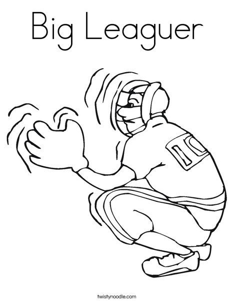 Catcher Coloring Page