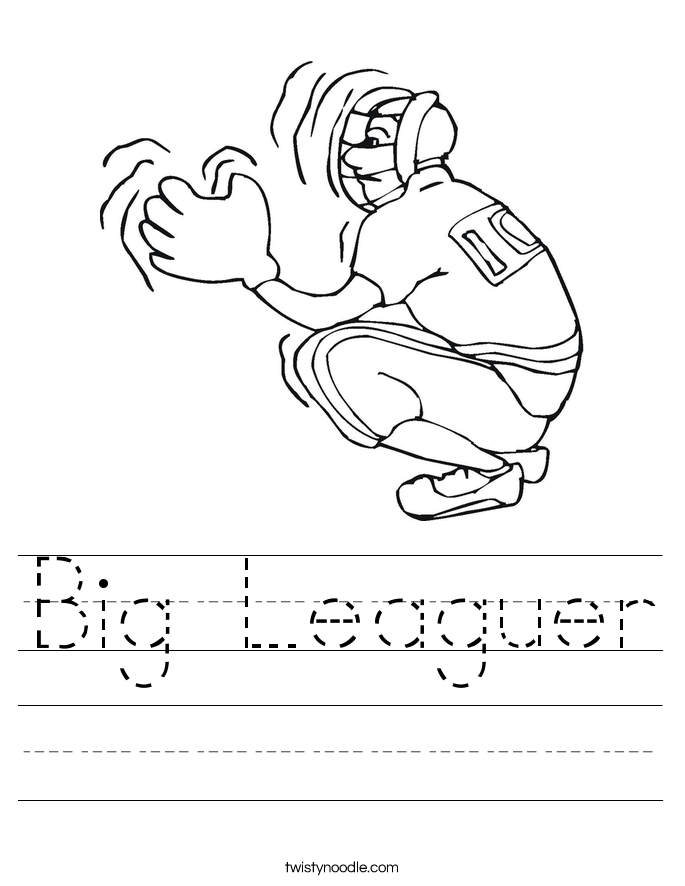 Big Leaguer Worksheet