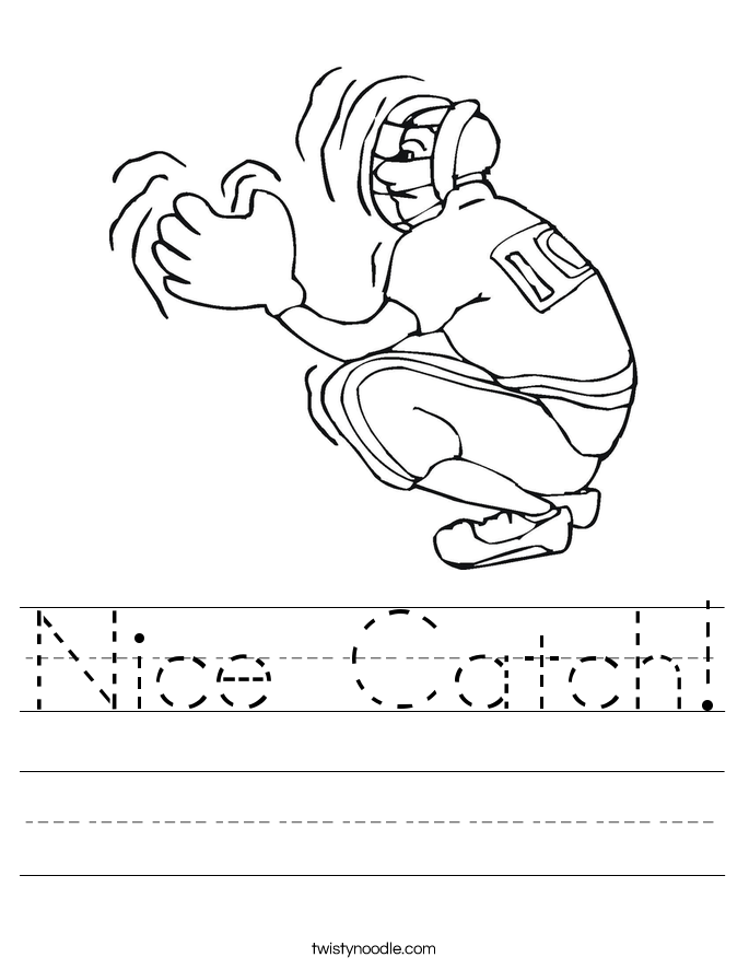 Nice Catch! Worksheet