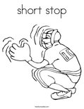 short stop Coloring Page