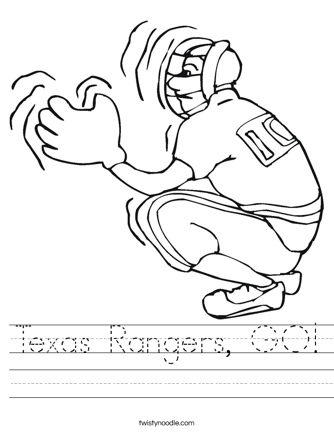 Texas Rangers, GO! Worksheet