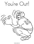 You're Out!Coloring Page
