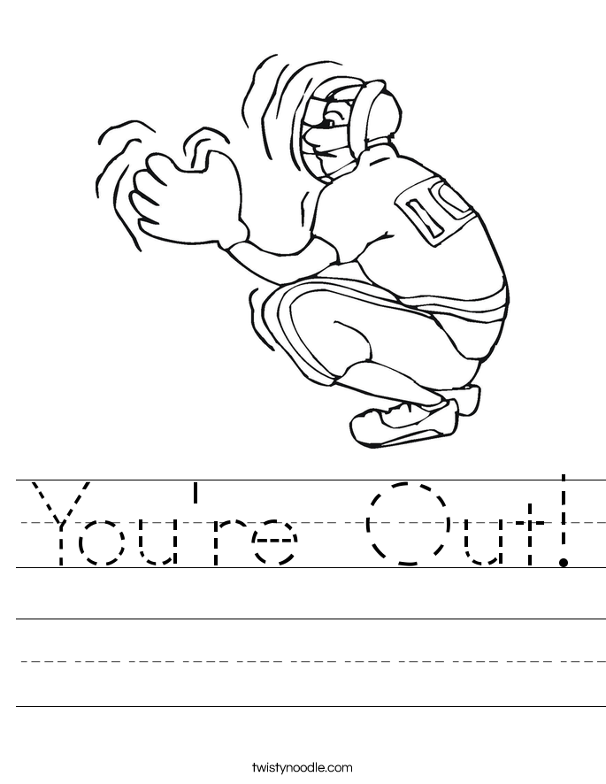 You're Out! Worksheet