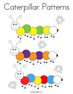 Caterpillar Patterns Coloring Page