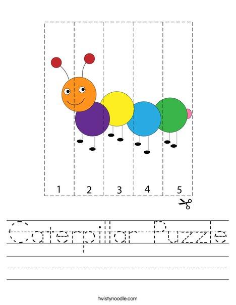 Caterpillar Puzzle Worksheet