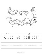 Caterpillar Handwriting Sheet