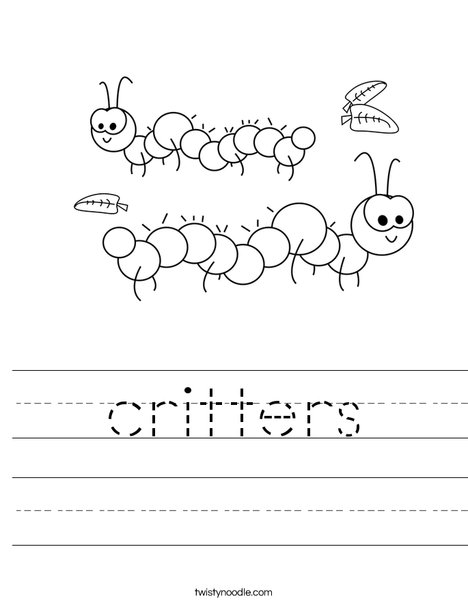 Caterpillar Worksheet