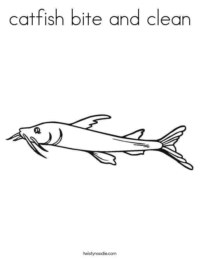 catfish bite and clean Coloring Page