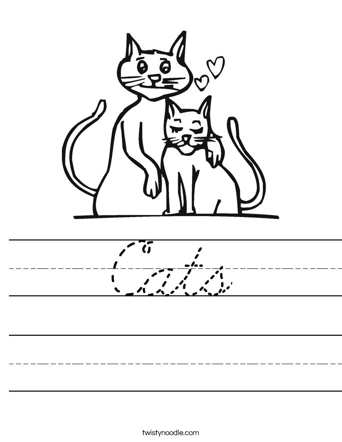 Cats Worksheet