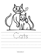 Cats Handwriting Sheet