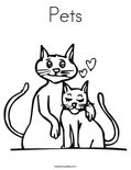 Pets Coloring Page