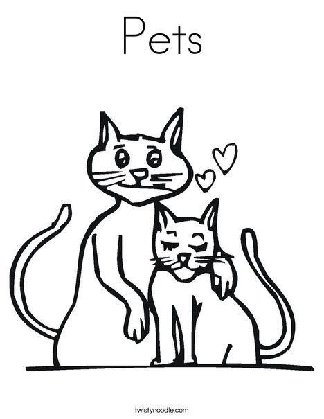 Cats Coloring Page