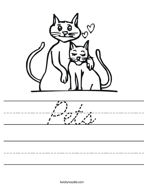 Cats Worksheet